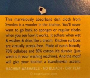 dishcloth hangtag